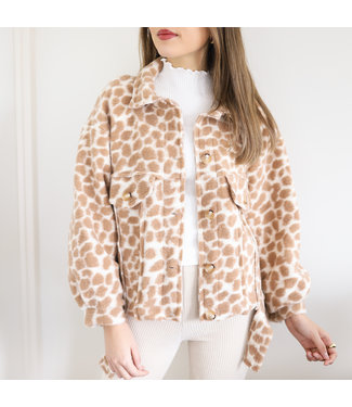 Bambi Animal Print Jacket / Brown