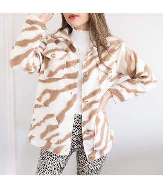 Salome Zebra Jacket / Beige