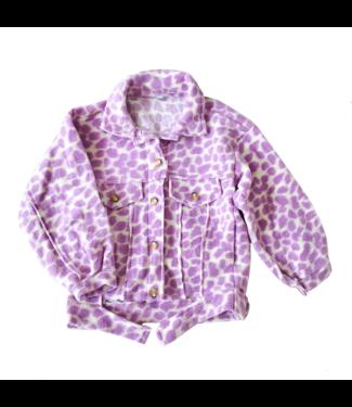 Bambi Animal Print Jacket / Purple