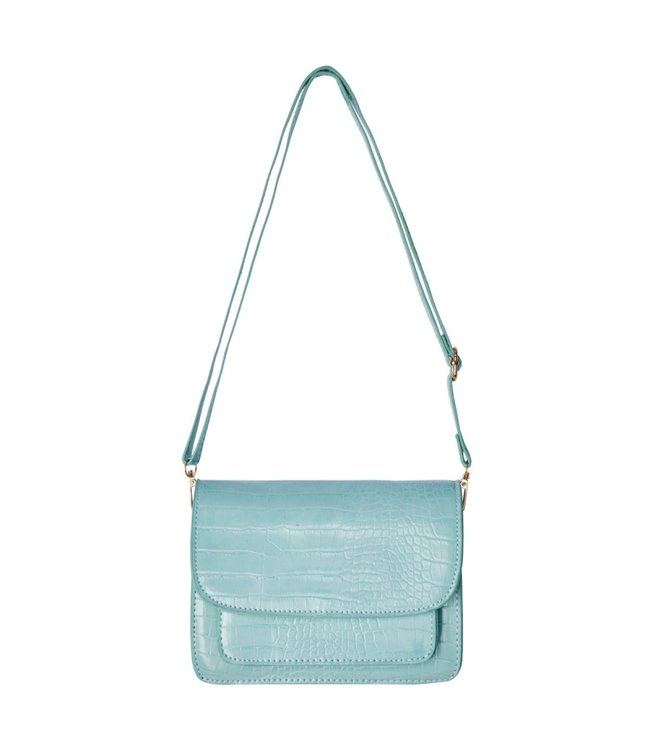 Sage Croco Bag / Mint Turquoise