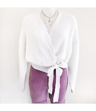 Laurie Wrap Cardigan / White