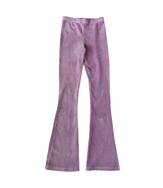 Corduroy Flared Trousers / Warm Lilac