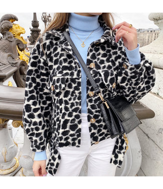Bambi Animal Print Jacket / Black
