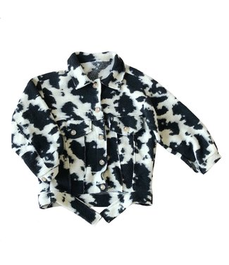 Karla Cow Print Jacket / Black