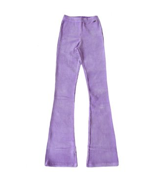 Corduroy Flared Trousers / Bright Lilac