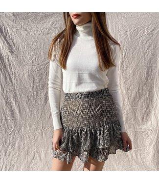 Vivien Herringbone Skirt / Beige
