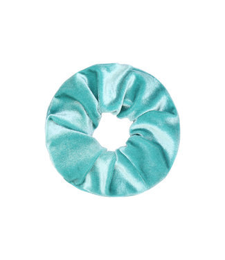 Cara Velvet Scrunchie / Turquoise