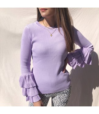 Lovise Bell Sleeve Top / Lilac