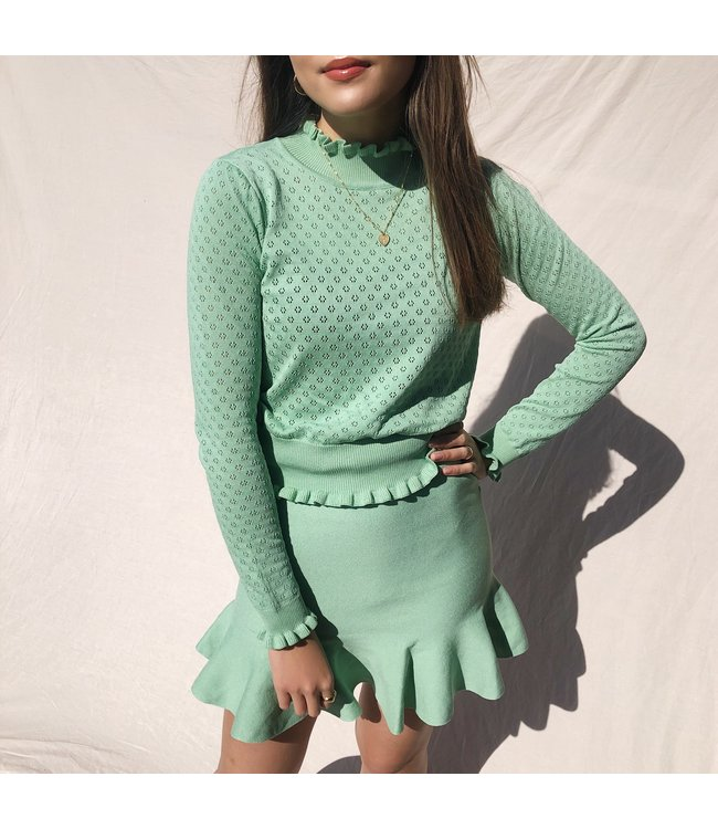 Katie Ruched Top / Green