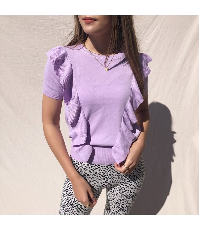 Posie Ruffle Top / Lilac