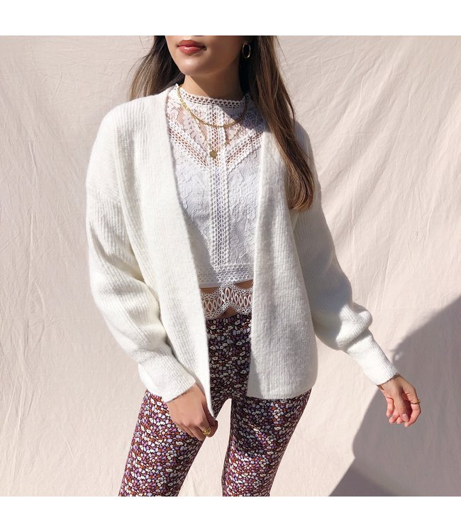 Elissa Knit Cardigan / White