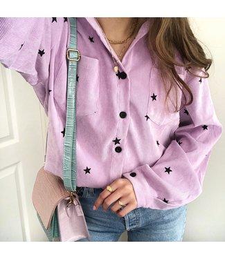 Nova Printed Star Blouse / Lilac