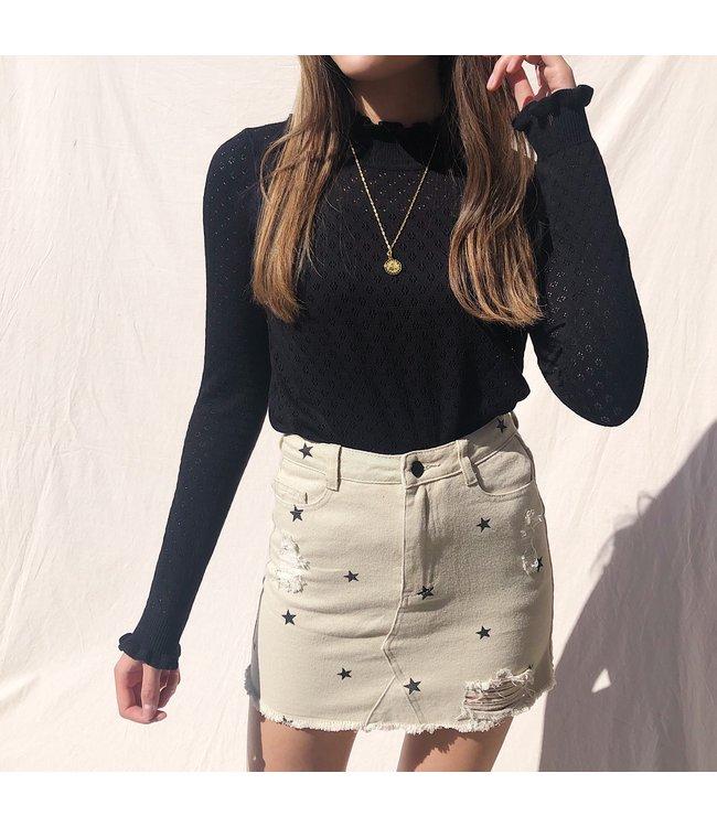 Nova Printed Star Skirt / Beige
