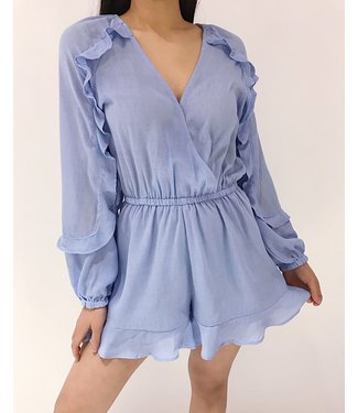 Yumé Ruffle Playsuit / Blue