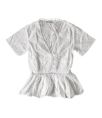 Susanna Embroidered Top / White