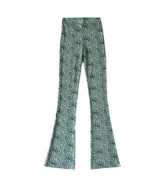Alexis Cheetah Flared Leggings / Mint Green