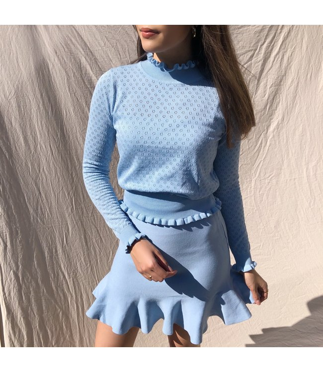 Katie Ruched Top / Blue