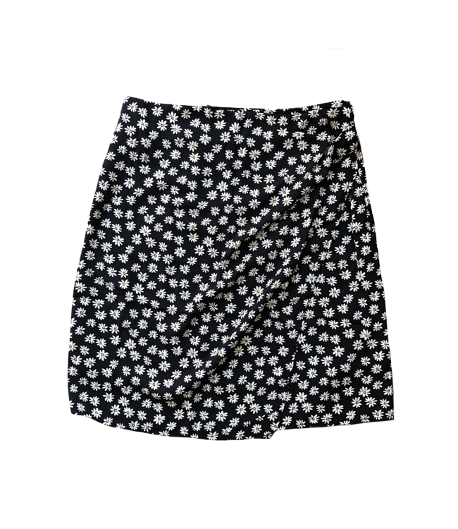 Calla Flower Skirt / Black