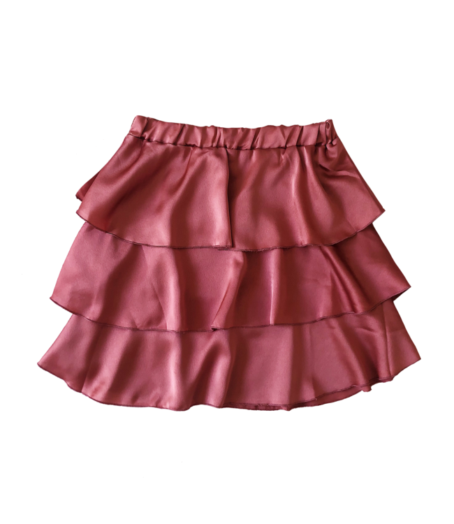 Sophia Satin Skirt / Dark Rose