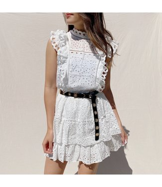 Nami Embroidered Top / White