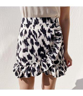 Naya Leopard Skirt / Beige