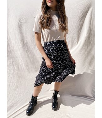 Rosie Heart Midi Skirt / Black