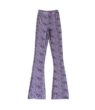 Alexis Cheetah Flared Leggings / Lilac