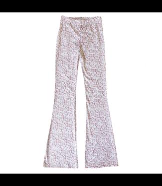 Maika Flower Flared Leggings / Pink