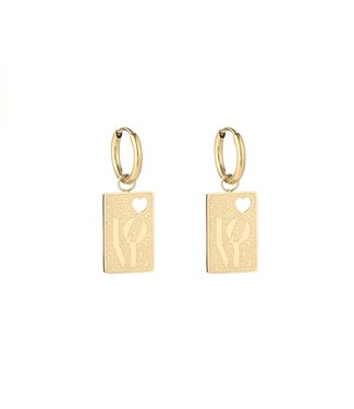 Gold Love Tag 2.0 Earrings