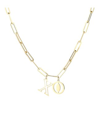 Gold XO Chain Necklace
