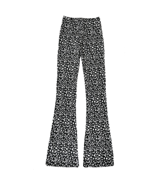 Nina Cheetah Flared Leggings / Black