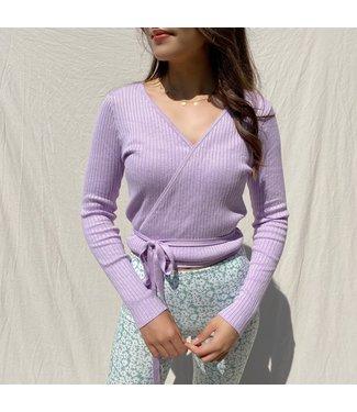 Zoila Wrap Cardigan /  Lilac