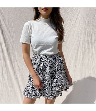 Erin Dots Skirt / White