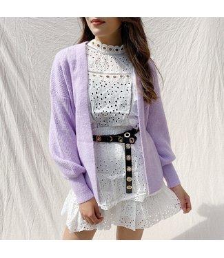 Elissa Knit Cardigan / Lilac