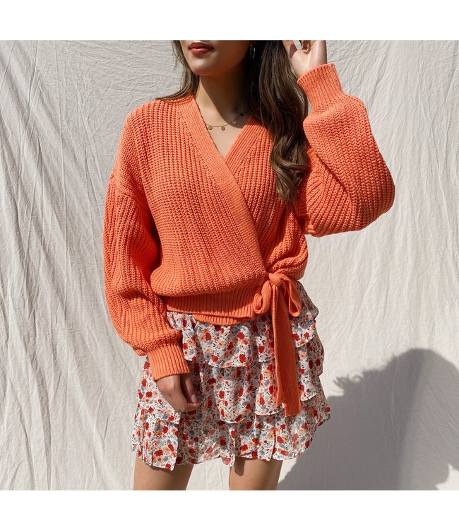 Laurie Wrap Cardigan / Orange