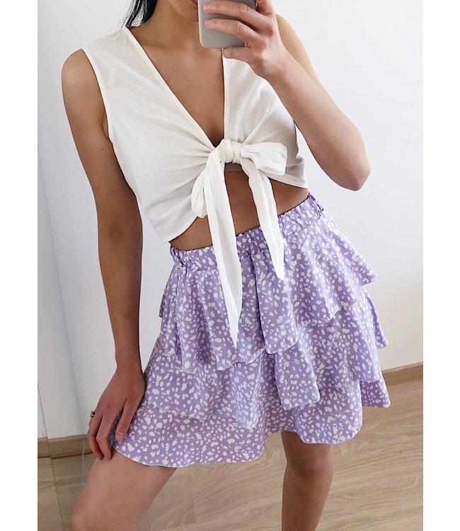 Suela Cheetah Skirt / Lilac