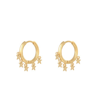 Gold Stargazing Earrings