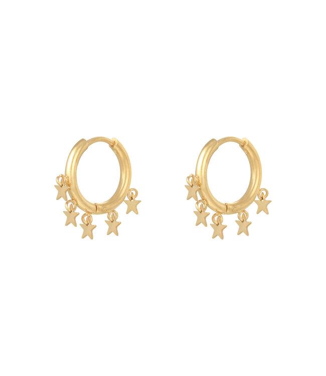 Gold Stargazing Earrings