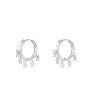 Silver Stargazing Earrings
