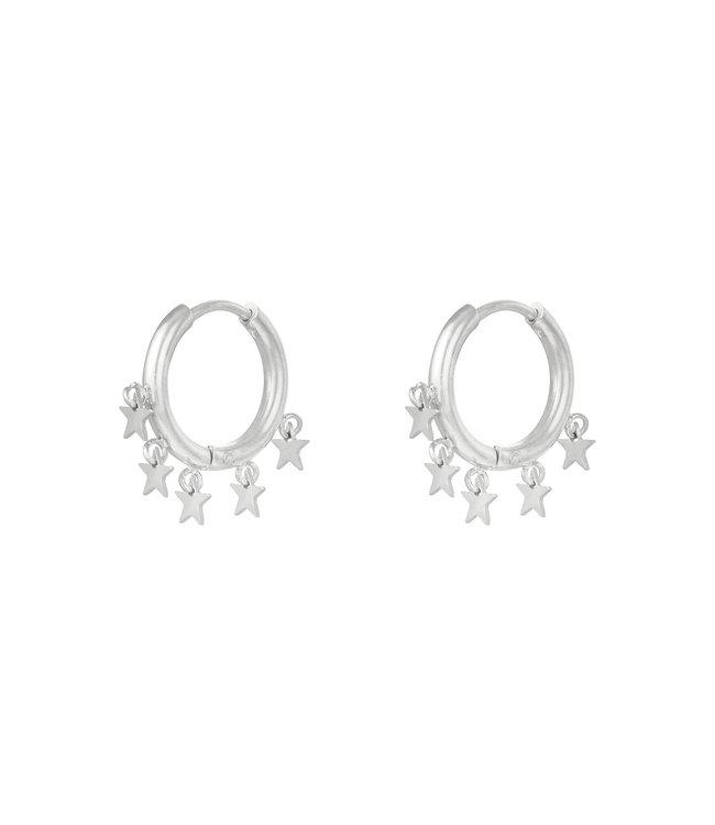 Silver Stargazing Earrings