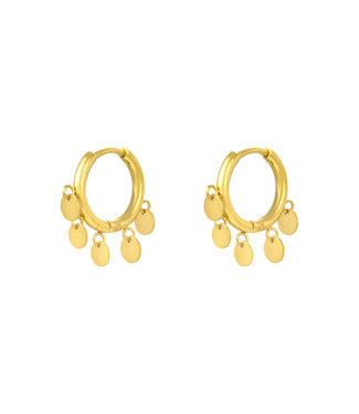 Gold Petite Circle Earrings