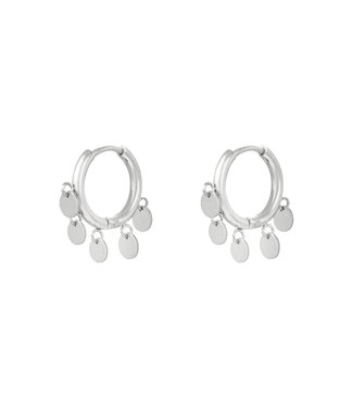 Silver Petite Circle Earrings
