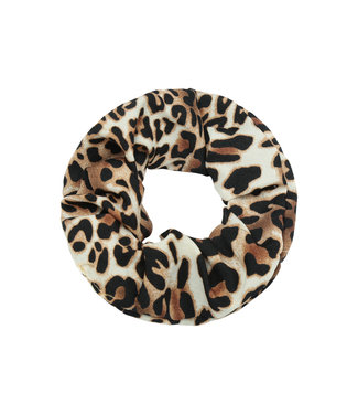 Cara Leopard Scrunchie / Brown