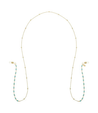Gold Summer Beads Sunglasses Cord / Turquoise