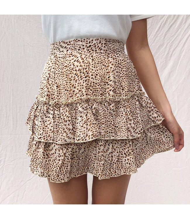 Chaya Cheetah Skirt / Beige