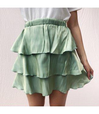 Elsa Silky Skirt / Green