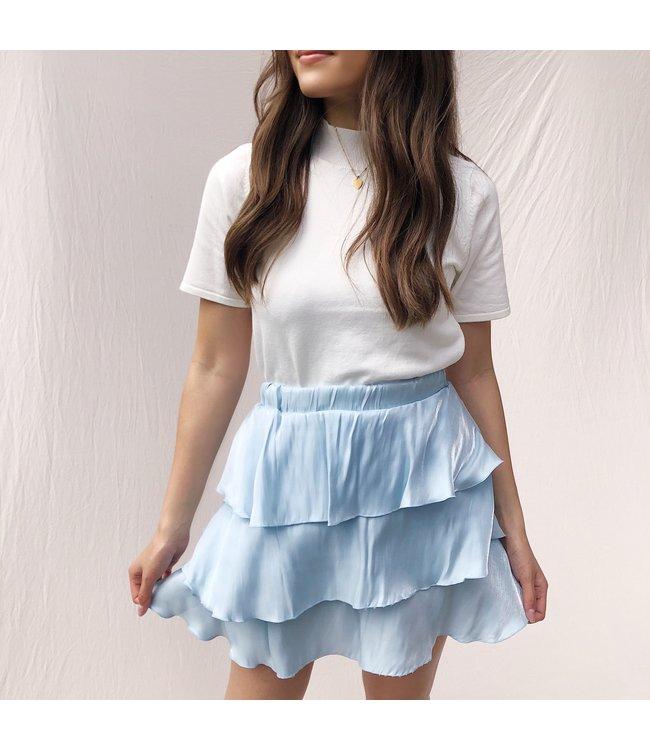 Elsa Silky Skirt / Light Blue