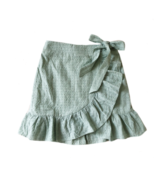 Viola Embroidered Skirt / Green