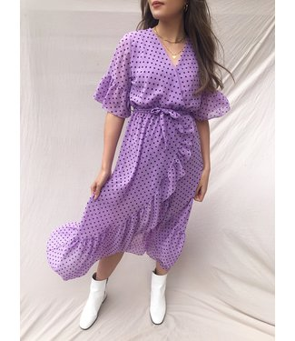 Juniper Dots Maxi Dress / Lilac