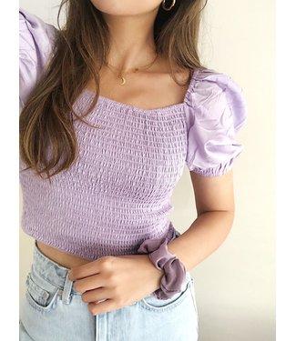Odette Smock Top / Lilac